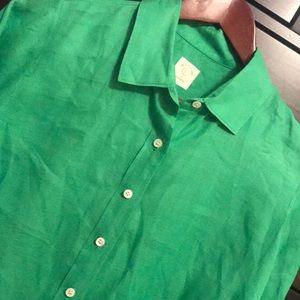 "J Crew ""The Perfect Shirt"" Linen - Size 6"